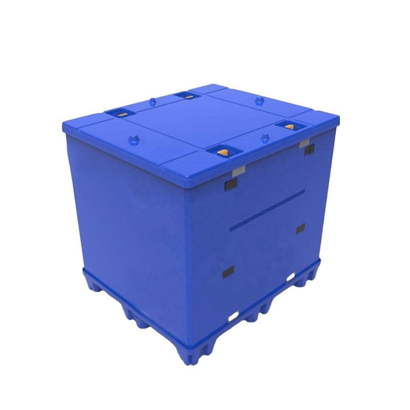 Manchon de palette en plastique PP en polypropylène surbaissé pour conteneurs en vrac résistant pliable
