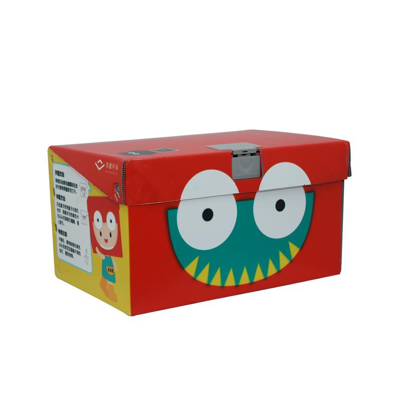 Conteneurs de boîtes à jouets en plastique ondulé pour la conception de couleur de taille personnalisée de légumes pour l'emballage ou la circulation