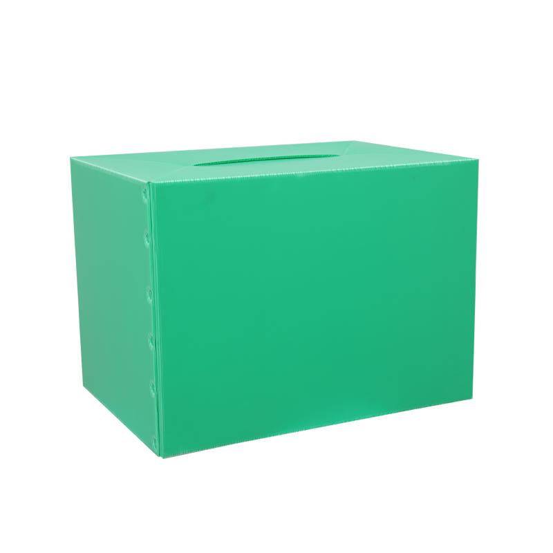 Le plastique ondulé RSC met en boîte la conception de couleur de taille personnalisée de conteneurs pour l'emballage ou la circulation