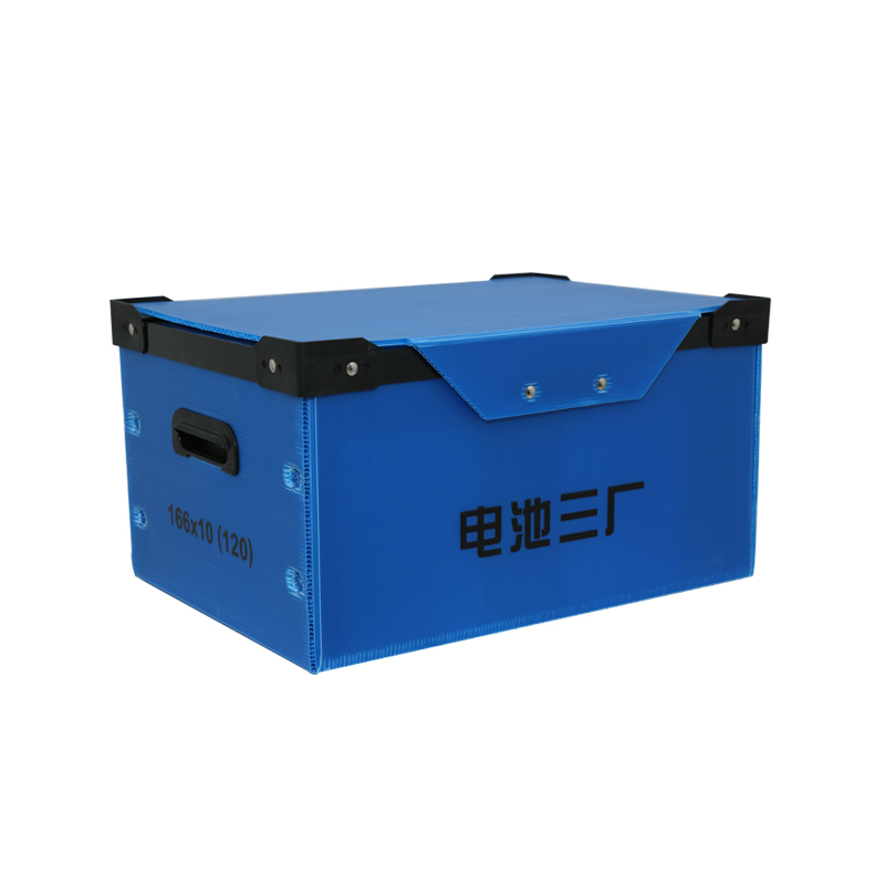 Corrugated plastic circulation containers boxes for transportation between distributing centre and stores or departments